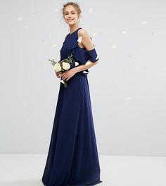Платье макси с оборками TFNC WEDDING - Темно-синий