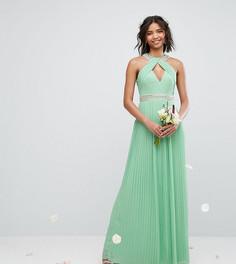 Платье макси с высоким воротом TFNC WEDDING - Зеленый