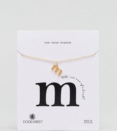 Позолоченный браслет с буквой M Dogeared Love Letter - Золотой