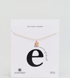 Позолоченный браслет с буквой E Dogeared Love Letter - Золотой