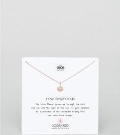 Ожерелье с покрытием из розового золота и подвеской эксклюзивно для Dogeared x ASOS - Золотой