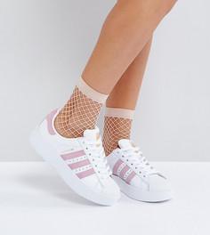 Бело-розовые кроссовки adidas Originals Superstar - Белый