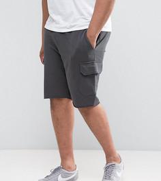 Зеленые трикотажные шорты скинни с карманами карго ASOS PLUS - Черный