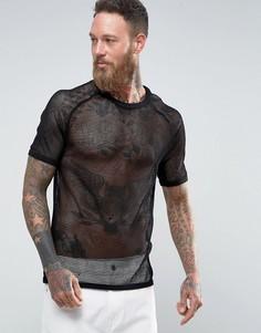 Сетчатая футболка Weekday Liam - Черный