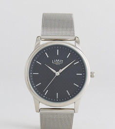 Серебристые часы из углеродного волокна с браслетом Limit эксклюзивно для ASOS - Серебряный