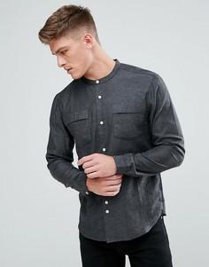 Рубашка с воротником на пуговице и карманами Bellfield - Серый