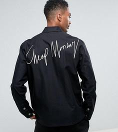 Хлопковая джинсовая куртка с принтом Cheap Monday - Черный