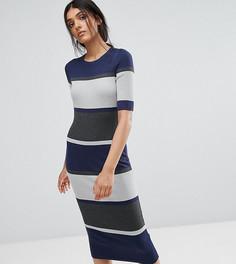 Облегающее платье миди ADPT Tall - Бежевый