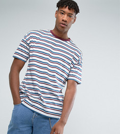 Oversize-футболка в полоску ASOS TALL - Белый