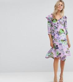 Платье миди с цветочным принтом ASOS Maternity - Мульти