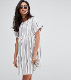 Свободное платье в полоску с короткими рукавами ASOS Maternity - Мульти