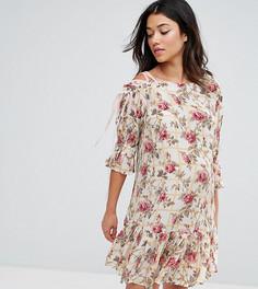 Платье на шнуровке с цветочным принтом ASOS Maternity - Мульти