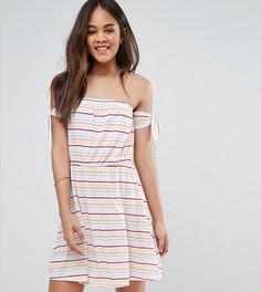 Трикотажное пляжное платье в полоску ASOS TALL - Мульти
