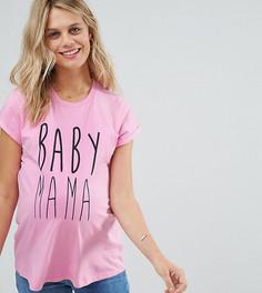Футболка с принтом Baby Mama ASOS Maternity - Розовый