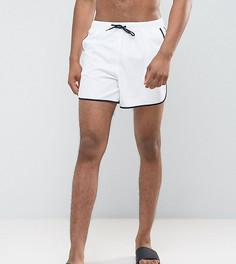 Белые короткие шорты для плавания ASOS TALL - Белый