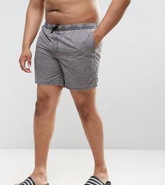 Серые шорты для плавания средней длины ASOS PLUS - Зеленый