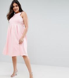 Приталенное платье миди для выпускного Be Jealous Plus - Розовый