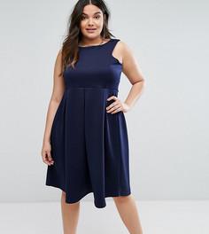 Приталенное платье миди для выпускного Be Jealous Plus - Темно-синий