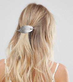 Серебристая металлическая заколка для волос с листком Orelia - Серебряный