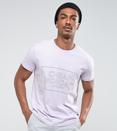 Футболка с карманом и логотипом Cheap Monday - Фиолетовый