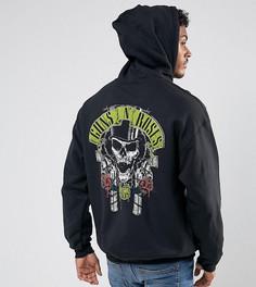 Черный худи свободного кроя с принтом Guns N Roses Reclaimed Vintage Inspired - Черный