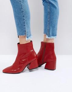 Красные кожаные ботильоны Vagabond Olivia - Красный
