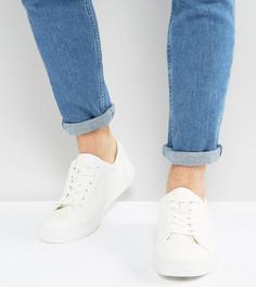Белые кроссовки для широкой стопы ASOS - Белый