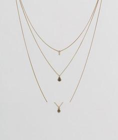 Ярусное ожерелье с подвесками хамса ASOS - Золотой