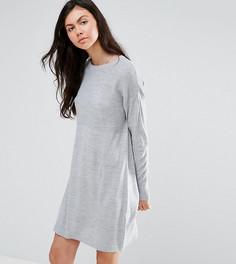 Платье-джемпер в рубчик ASOS TALL - Серый