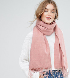 Длинный шарф с кисточками Stitch & Pieces - Розовый