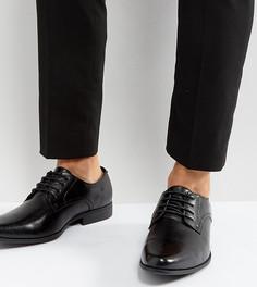 Черные туфли дерби для широкой стопы ASOS - Черный