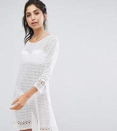 Пляжное платье кроше с рукавами клеш Akasa - Белый