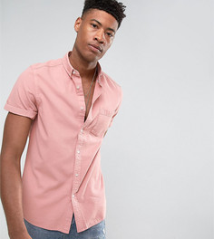 Розовая джинсовая рубашка классического кроя ASOS TALL - Розовый