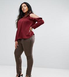 Коричневые брюки из твида Elvi - Коричневый