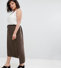 Коричневая твидовая юбка Elvi - Коричневый