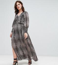 Длинное платье с принтом Elvi - Мульти