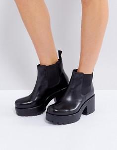 Черные кожаные ботинки челси Vagabond Dioon - Черный