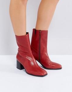 Красные кожаные ботинки Vagabond Luna - Красный