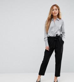 Тканые брюки-галифе с поясом оби ASOS PETITE - Черный