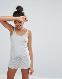 Пижамный ромпер Undiz Candyfornia - Серый