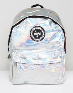Рюкзак голографического серебристого цвета Hype - Серебряный