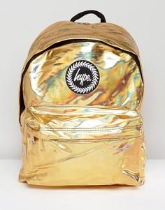 Рюкзак голографического золотистого цвета Hype - Золотой