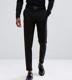 Черные зауженные строгие брюки укороченного кроя ASOS TALL - Черный