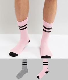 2 пары спортивных носков с надписями ASOS - Мульти