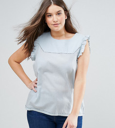 Блузка с рукавами клеш Junarose - Синий