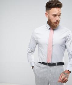 Зауженная рубашка с фактурным галстуком ASOS - СКИДКА - Серый