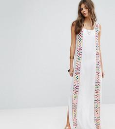 Пляжное платье макси с отделкой Rocca Bella - Белый