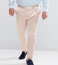Светло-розовые сатиновые супероблегающие брюки ASOS PLUS Wedding - Розовый
