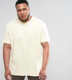Желтая оверсайз-футболка с вафельной текстурой Puma PLUS эксклюзивно для ASOS - Желтый