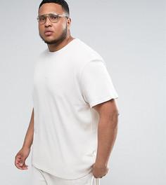 Серая oверсайз-футболка из вафельного трикотажа Puma PLUS эксклюзивно для ASOS - Серый